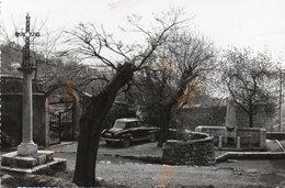 ST JEANNET-cp Glacée -Le Calvaire Et Monument Aux Morts - Sonstige Gemeinden