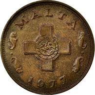 Monnaie, Malte, Cent, 1977, British Royal Mint, TTB, Bronze, KM:8 - Malta