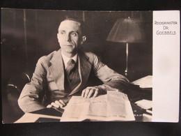 Postkarte Reichsminister Dr. Goebbels 1933 - Briefe U. Dokumente