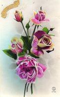 - Joyeuse Fête - Bouquet De Roses   - Scan Verso - - Fêtes - Voeux