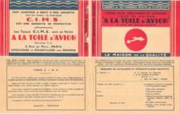 FRANCE - Carnet Couverture Vide Toile Avion CIMS Avec Intercalaire - 50c Semeuse Lignée Rouge IIB - YT 199 C… - Carnets