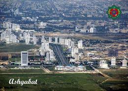 Turkmenistan Ashgabat Aerial View New Postcard - Turkménistan