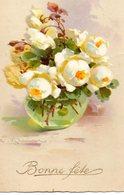 - Bonne Fête - 2 Cpa - Bouquet De Fleurs  - Dessin Avec Signature - Scan Verso - - Fêtes - Voeux
