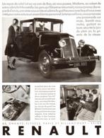 """PUB RENAULT  """"  CABRIOLET MONASTELLA  """"    1930 - Voitures"""