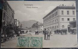 Cpa  - Vintimiglia - Piazza Stazione - Imperia
