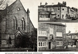 CPSM Methodist Church And Leeds Road Hipperholme - Angleterre