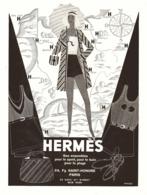 """PUB ACCESSOIRES SPORT-BAINS-PLAGES """" HERMES """"  1930 ( 1 ) - Vintage Clothes & Linen"""