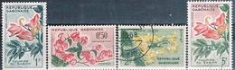Gabon 1961  -  Yvert 153 + 154 + 156 + 157  ( Usados ) - Gabón (1960-...)