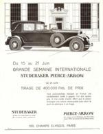 "PUB VEHICULES   "" STUDEBAKER  PIERCE-ARROW "" 1930 ( 1 ) - Voitures"