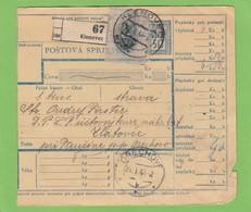 FRACHTBRIEF VON KLENOVEC,22-4-44. - Slovaquie
