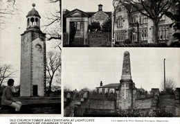 CPSM Old Church Tower And Cenot Aph At Lightcliffe And Hipperholme Grammar School - Angleterre