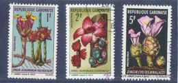 Gabon 1969  -  Yvert 243 + 244 + 245  ( Usados ) - Gabón (1960-...)