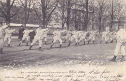 CPA 89 @ AUXERRE - Place De L'Arquebuse (n°3) Exercices Sport Militaire Boxe En 1903 @ Edition Toulot - Auxerre