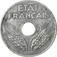 Monnaie, France, État Français, 20 Centimes, 1943, Paris, TB+, Zinc - France