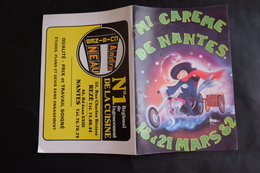 PROGRAMME MI CAREME NANTES 1982 CARNAVAL MARCEL ROI REINES - Programmes