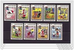 "Iles CAICOS Islands "" Noel/Christmas 1983 "" Les 9 Valeurs: Complet - Mnh*** - Disney"