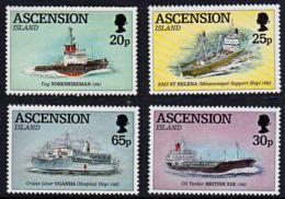 D0033 ASCENSION 1994, SG 629-32 Ships Used In Liberation Of Falkland Islands, MNH - Ascension (Ile De L')