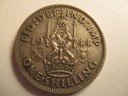 GB 1 Shilling 1944 - 1902-1971 : Monnaies Post-Victoriennes