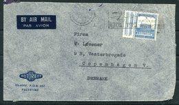 1936 Palestine Airmail Cover MOTORIENT Tel Aviv - Copenhagen Denmark - Palestine