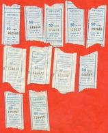 Kazakhstan 2012-16-18. Bus Ticket In Kazakhstan, The City Of Karaganda. Lot Of 11 Tickets. - Bus