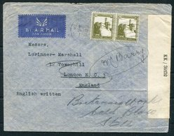 WW2 Palestine CENSOR Airmail Cover Jerusalem - London GB - Palestine