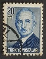 1948, President Inonu, Turk Postalari, Republic, Türkiye, Turkey - 1921-... République