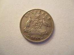 Australia: 6 Pence 1945 - Monnaie Pré-décimale (1910-1965)