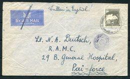 1943 Palestine CENSOR Field Post Office 148 FPO Cover Nathanya - Lt Deutsche R.A.M.C. 29B General Hospital - Palestine