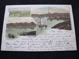 Ancienne Carte Postale Cpa Rare Hilsen Fra Bodo Circulée Vers Carolles 1901 - Norway