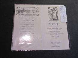ANVERS-28/5/1930-INVITATION AU BANQUET POUR JOURNALISTES PORTUGAIS - Programmes