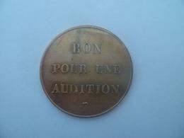 JETON / TOKEN  Bon Pour Audition ! - Professionnels / De Société