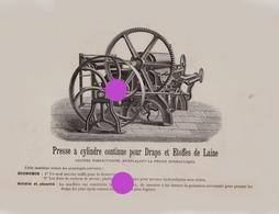 Verviers Longtain Laine Et Textile /atelier De Construction Mécanique De Machines Textiles  2 Documents - Publicités
