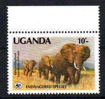 Ouganda Uganda 0601 Eléphant , Wwf  1988 - Elephants