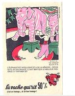 BUVARD LA VACHE QUI RIT - LE CIRQUE - L'ELEPHANT  DESSIN DE ALAIN SAINT OGAN - Non Classés