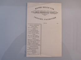 ISRAEL PALESTINE HOTEL HOSTEL GUEST REST HOUSE INN BELLE VUE JERICHO DEAD SEA STATIONERY LETTER DESIGN ORIGINAL LOGO - Manuscripts