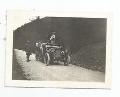 Photographie Tacot Auto Voiture Suisse Diablerets Route De Leyzin Vaud 1912 Photo 6,5x9 Cm Env - Automobili