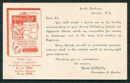Guatemala Stationery Postcard, Advertising Overprint For Errington & Martin, Stamp Dealers, Hackney London - Guatemala