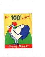 PUBLICITE BISCUITS OLIBET à BORDEAUX  POULE - Publicités