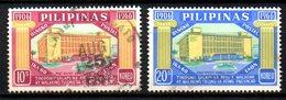 PHILIPPINES. N°654-5 Oblitérés De 1966.  Caisse D'épargne Postale. - Philippines