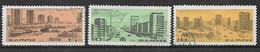 COREA DEL NORD 1976 COSTRUZIONE DELLA STRADA CHOLLIMA YVERT. 1405-1407 USATA VF - Korea, North