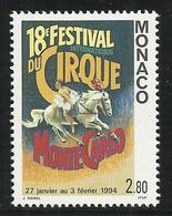 MONACO , 2.80 Frs , XVIII Festival International Du Cirque De Monte-Carlo , 1994 , N° YT 1923 , NEUF ** - Monaco