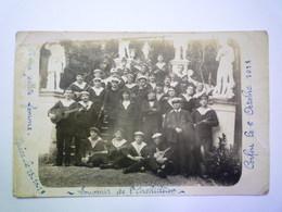 GP 2019 - 603  Carte PHOTO  De Marins Français à  CORFOU  (Souvenir De L'ACHILLEION)  1918   XXX - Grèce