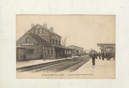 Cpa FLAVY LE MARTEL - La Gare Avant Sa Destruction - France