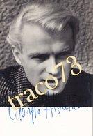GIORGIO ALBERTAZZI _ 1923-2016 /  Autografo Su Foto Originale  _ Formato 10,5 X 15 Cm. - Personalità