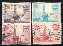 ARABIA SAUDITA - 1976 - PIATTAFORMA PETROLIFERA DI AL KHAFJI - USATI - Arabia Saudita