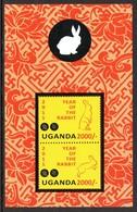 Ouganda Uganda Bf 360 Zodiaque , Année Du Lapin , Rabbit - Astrologia