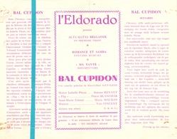 Ciné  Bioscoop Programma Cinema Eldorado Bruxelles - Bal Cupidon - Simonne Renant - Publicité Cinématographique