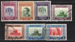 GIORDANIA - 1955 - RE HUSSEIN E IMMAGINI DELLA GIORDANIA - CON FILIGRANA - USATI - Giordania