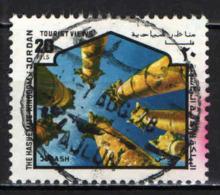 GIORDANIA - 1978 - COLONNE ROMANE A  JERASH - USATO - Giordania