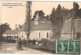 CPA St Malo De Beignon L'Eglise Camp De Coëtquidan Saint 56 Morbihan - Francia